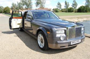 rolls royce phantom wedding car kettering
